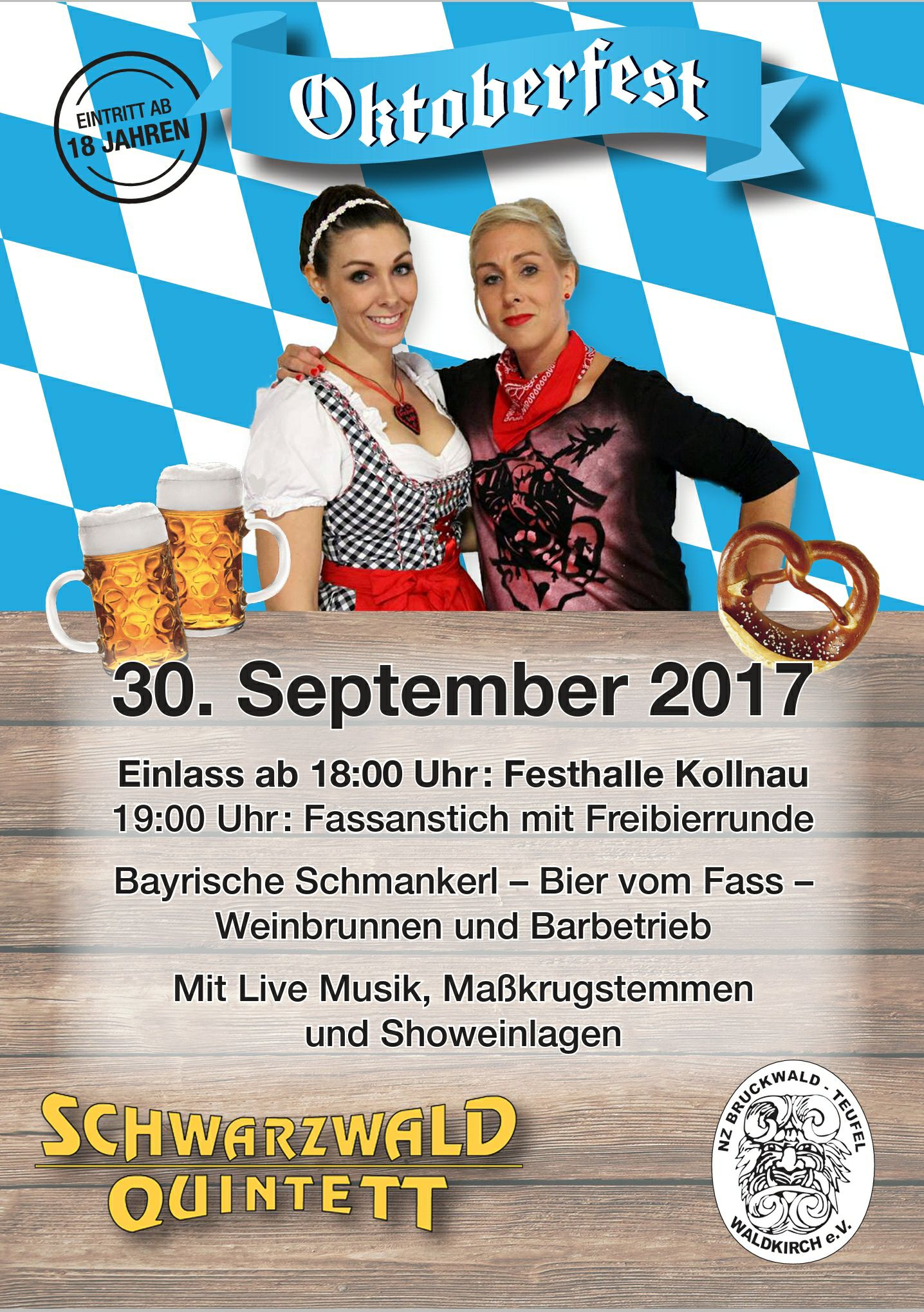 Oktoberfest 2017 Kollnau Narrenzunft Bruckwaldteufel